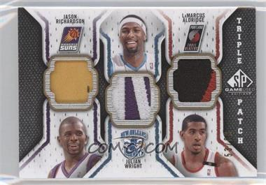 2009-10 SP Game Used Triple Patch #TP-RAW - Jason Richardson, Julian Wright, LaMarcus Aldridge /60
