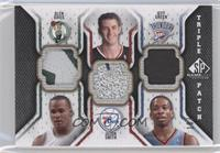 Glen Davis, Jason Smith, Jeff Green /60