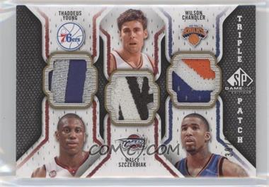 2009-10 SP Game Used Triple Patch #TP-SYC - Thaddeus Young, Wally Szczerbiak, Wilson Chandler /60