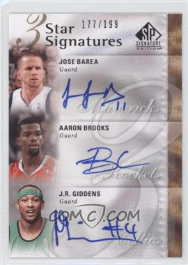 2009-10 SP Signature Edition 3 Star Signatures [Autographed] #3S-BBG - J.J. Barea, Aaron Brooks, J.R. Giddens /199