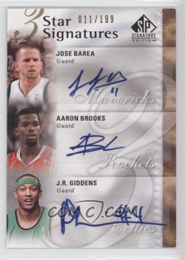 2009-10 SP Signature Edition 3 Star Signatures [Autographed] #3S-BBG - J.J. Barea, Aaron Brooks, J.R. Giddens /199