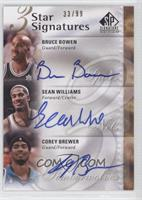 Bruce Bowen, Sean Williams, Corey Brewer /99
