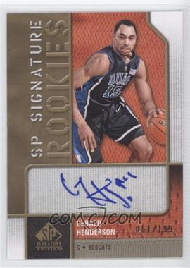 2009-10 SP Signature Edition SP Signature Rookies [Autographed] #R-GH - Gerald Henderson /199