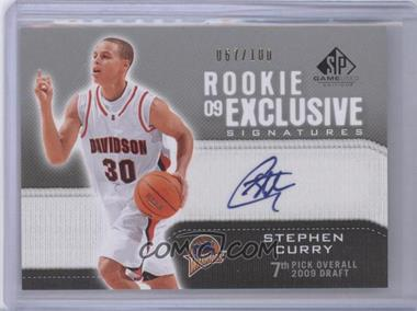 2009 10 Stephen Curry Sp Game Used Auto Rc 100 Exclusive