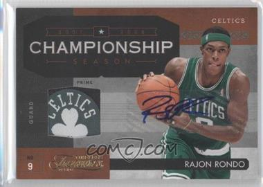 2009-10 Timeless Treasures Championship Season Materials Laundry Tag Team Logo Signatures [Autographed] #2 - Rajon Rondo /1
