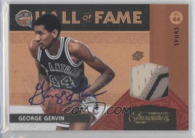 2009-10 Timeless Treasures Hall of Fame Materials Prime Signatures [Autographed] [Memorabilia] #8 - George Gervin /10
