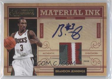 2009-10 Timeless Treasures Material Ink Prime #28 - Brandon Jennings /25