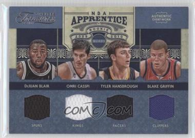 2009-10 Timeless Treasures NBA Apprentice Quad Materials #8 - Blake Griffin, DeJuan Blair, Tyler Hansbrough, Omri Casspi /100