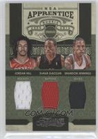 Jordan Hill, Brandon Jennings, DeMar DeRozan /100