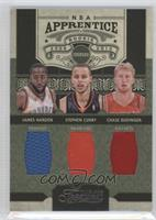 Chase Budinger, Stephen Curry, James Harden /100