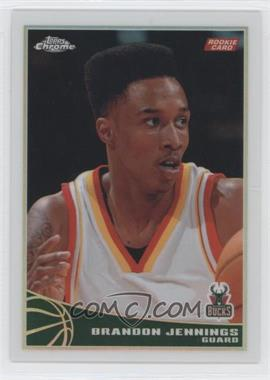 2009-10 Topps Chrome Refractor #102 - Brandon Jennings /500