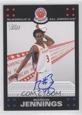 2009-10 Topps McDomald's All-American Game-Day Autographs #BJ - Brandon Jennings