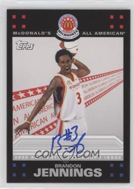 2009-10 Topps McDomald's All-American Game-Day Autographs #BJ - Brandon Jennings