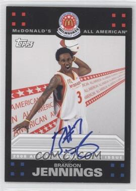 2009-10 Topps McDonald's All-American Game-Day Autographs #BJ - Brandon Jennings