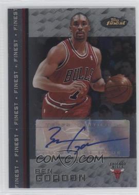 2009-10 Topps Redemption Autograph 2007-08 Finest #N/A - Ben Gordon
