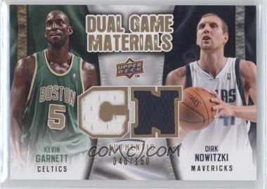 2009-10 Upper Deck - Dual Game Materials - Gold #DG-GN - Kevin Garnett, Dirk Nowitzki /150