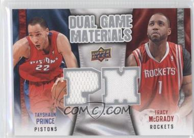 2009-10 Upper Deck - Dual Game Materials #DG-MP - Tracy McGrady, Tayshaun Prince