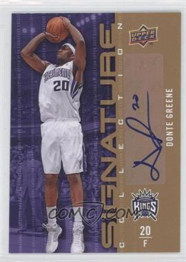 2009-10 Upper Deck - Signature Collection - [Autographed] #71 - Donte Greene