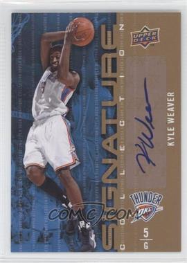 2009-10 Upper Deck - Signature Collection - [Autographed] #94 - Kyle Weaver