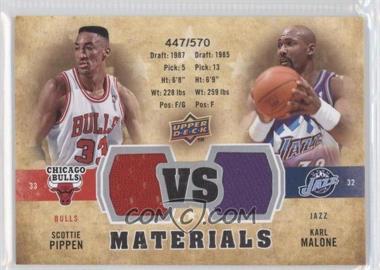 2009-10 Upper Deck - VS Dual Materials #VS-MP - Scottie Pippen, Karl Malone /570