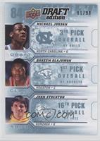 Michael Jordan, John Stockton, Hakeem Olajuwon /99