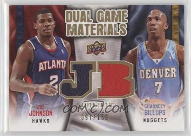 2009-10 Upper Deck Dual Game Materials Gold #DG-BJ - Joe Johnson, Chauncey Billups /150