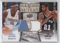 Tim Duncan, Carmelo Anthony /150