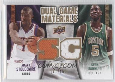 2009-10 Upper Deck Dual Game Materials Gold #DG-GS - Kevin Garnett, Amar'e Stoudemire /150