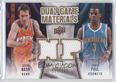 2009-10 Upper Deck Dual Game Materials Gold #DG-NP - Chris Paul, Steve Nash /150