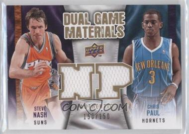 2009-10 Upper Deck Dual Game Materials Gold #DG-NP - Chris Paul, Steve Nash /150