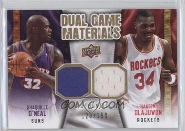 2009-10 Upper Deck Dual Game Materials Gold #DG-OO - Hakeem Olajuwon, Shaquille O'Neal /150