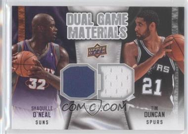 2009-10 Upper Deck Dual Game Materials #DG-DO - Tim Duncan, Shaquille O'Neal
