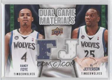 2009-10 Upper Deck Dual Game Materials #DG-FJ - Al Jefferson, Randy Foye