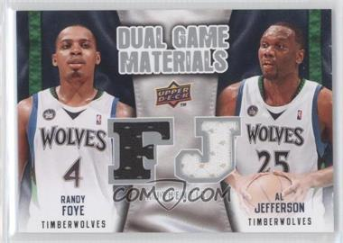 2009-10 Upper Deck Dual Game Materials #DG-FJ - Al Jefferson, Randy Foye