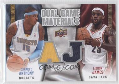 2009-10 Upper Deck Dual Game Materials #DG-JA - Carmelo Anthony, Lebron James