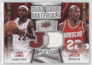 2009-10 Upper Deck Dual Game Materials #DG-JD - Lebron James, Clyde Drexler