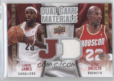 2009-10 Upper Deck Dual Game Materials #DG-JD - Lebron James, Clyde Drexler