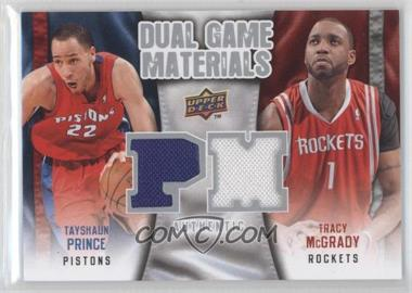 2009-10 Upper Deck Dual Game Materials #DG-MP - Tracy McGrady, Tayshaun Prince