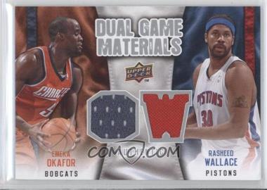 2009-10 Upper Deck Dual Game Materials #DG-WO - Emeka Okafor, Rasheed Wallace