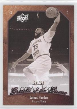 2009-10 Upper Deck Greats of the Game 50 #36 - James Harden /50