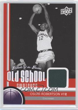 2009-10 Upper Deck Greats of the Game Old School Swatches #OS-33 - Oscar Robertson