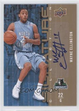 2009-10 Upper Deck Signature Collection [Autographed] #127 - Wayne Ellington
