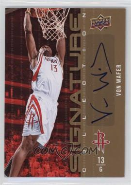 2009-10 Upper Deck Signature Collection [Autographed] #13 - Von Wafer