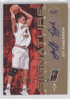 2009-10 Upper Deck Signature Collection [Autographed] #154 - Jeff Pendergraph