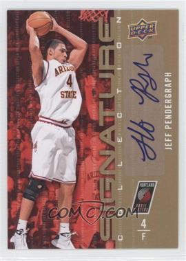 2009-10 Upper Deck Signature Collection [Autographed] #154 - Jeff Pendergraph