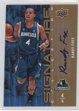 2009-10 Upper Deck Signature Collection [Autographed] #166 - Randy Foye