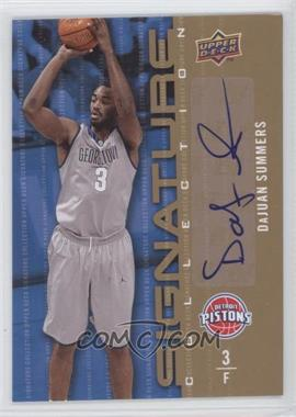 2009-10 Upper Deck Signature Collection [Autographed] #26 - DaJuan Summers