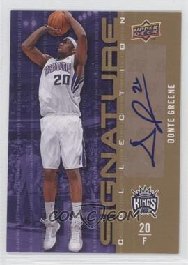 2009-10 Upper Deck Signature Collection [Autographed] #71 - Donte Greene