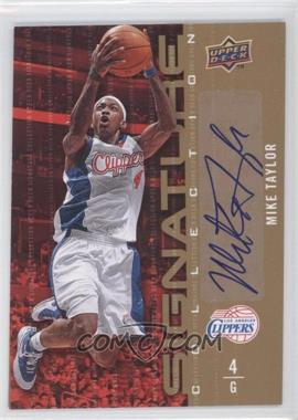 2009-10 Upper Deck Signature Collection [Autographed] #88 - Mike Taylor