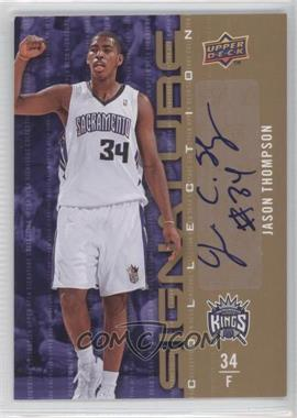 2009-10 Upper Deck Signature Collection [Autographed] #89 - Jason Thompson